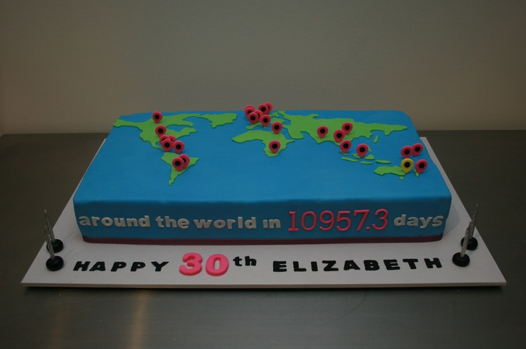 The 8 best travel cake images on pinterest travel cake birthday world maps travel birthday cake httpfunkycakez gumiabroncs Gallery