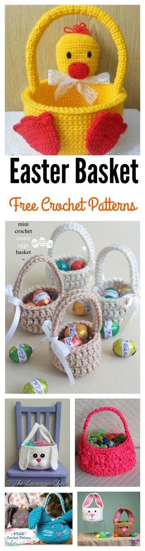 Best 25 diy crochet easter basket ideas on pinterest easter crochet easter basket free patterns negle Images