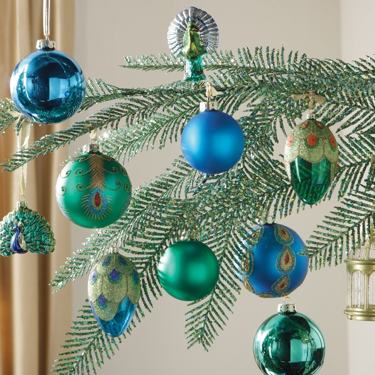 Christmas Tree Decorations Facebook: 17 Best Images About PEACOCK Christmas Tree Decorations On
