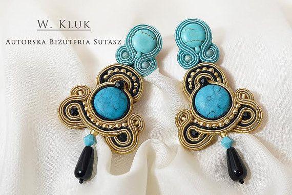 Exceptional soutache earrings by ArtWKluk on Etsy