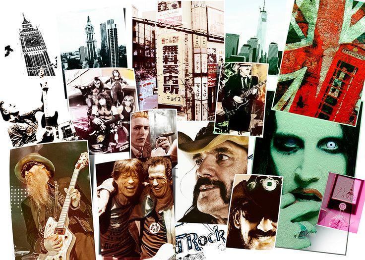 """""""Larga vida al Rock&Roll..."""" Póster estilo """"collage"""" para un bar."""
