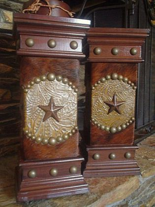 make these! Use that gold embossed scrapbook paper and upholstery tacks
