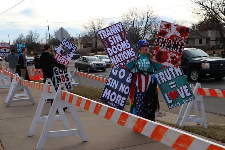 Photos From Westboro Baptist Church's Protest of Derby High School's Girl Holly Ball King
