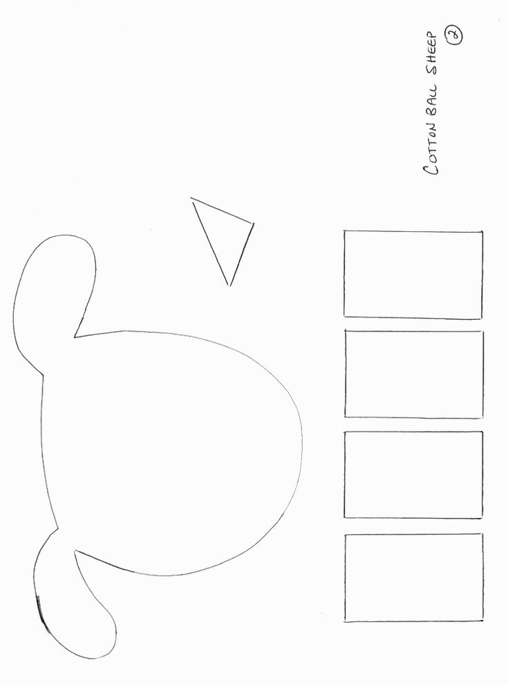 Animals crafts print your sheep craft template 2 at for Lamb template to print
