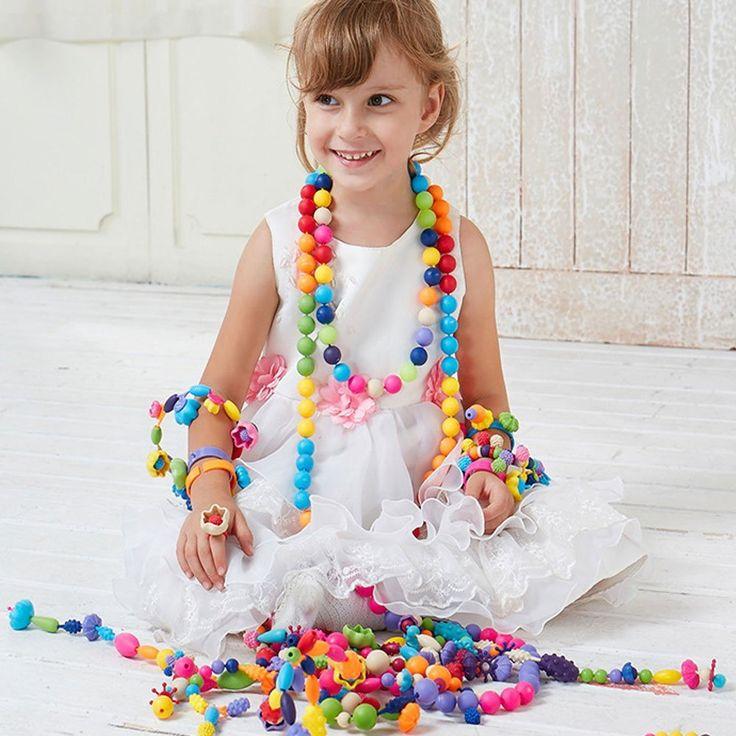 Amazon | Wishtime 女の子 ビーズ アクセサリー ビーズキット ハンドメイド ブレスレット DIY 手作り おもちゃ ギフト (85pcs) | ブレスレットおもちゃ 通販