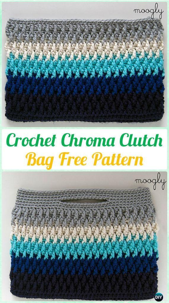 Crochet Chroma Clutch Bag Free Pattern [Video] - #Crochet Clutch Bag Free Patterns