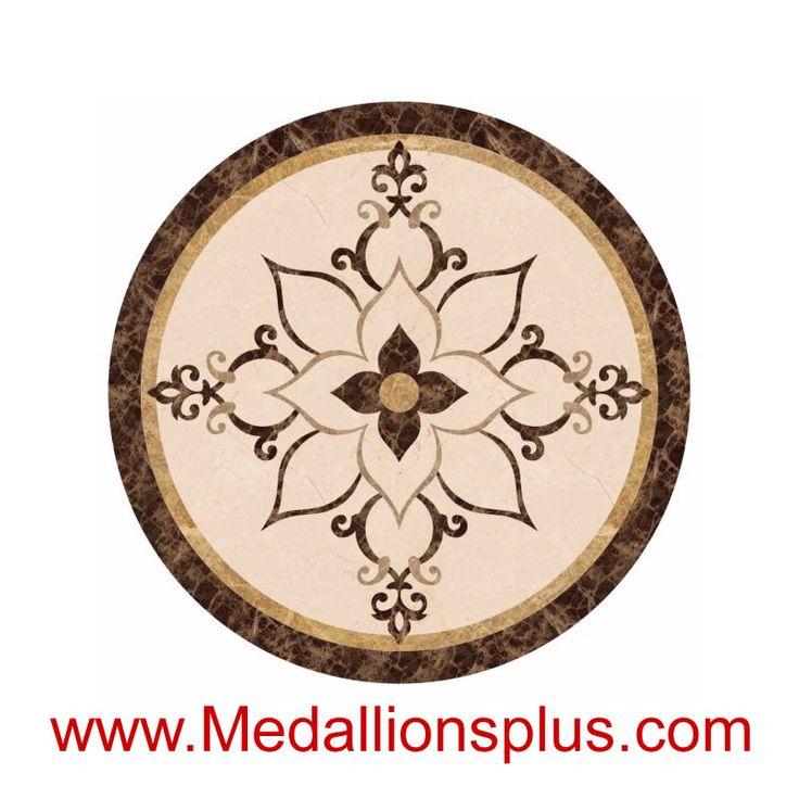 """Chloe, 48"""" Waterjet Medallion - MedallionsPlus.com - Floor Medallions on Sale. Tile, Mosaic, & Stone Inlays."""