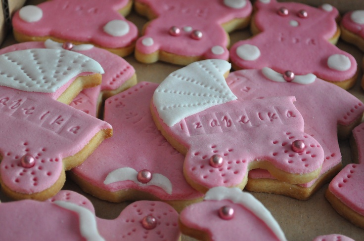 Sugar cookies for baby girl shower