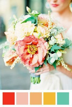 turquoise gold cream green wedding - Google Search