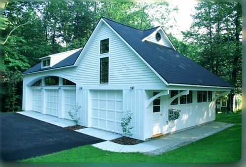Detached garage with apt office for the home pinterest for 4 car garage with apartment above