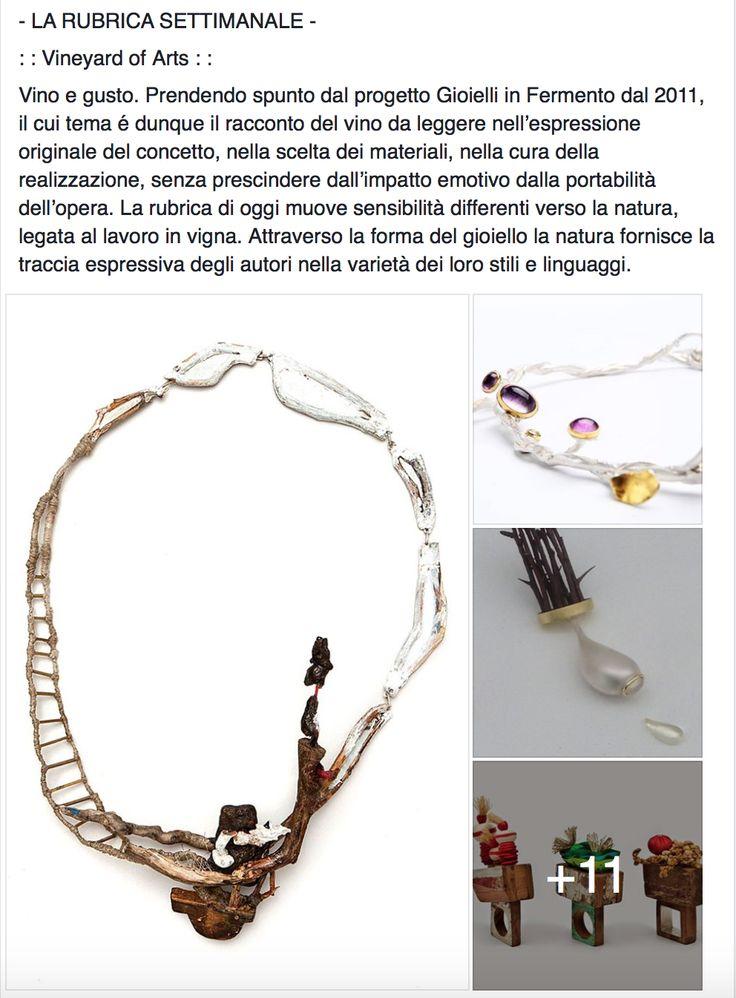 snapshot, pic, photo, screenshot on Facebook. rubrica settimanale . art  jewelry sculpture