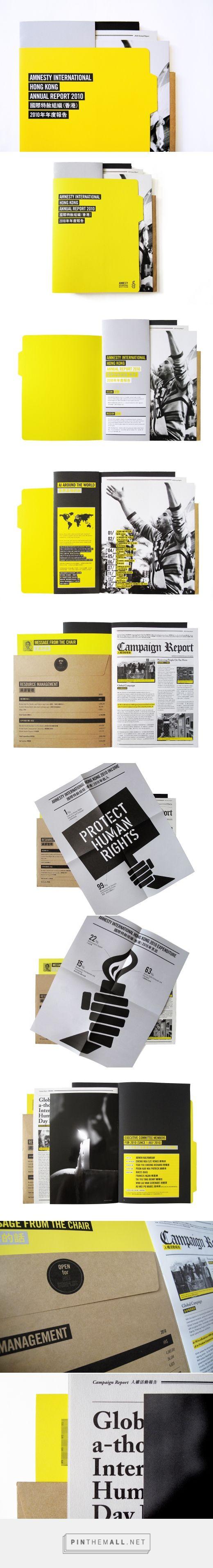 Amnesty International Hong Kong Annual Report 2010 on Behance - created via https://pinthemall.net