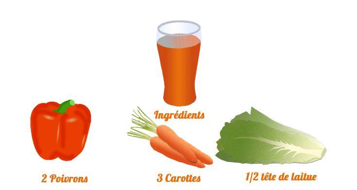Jus poivron et carotte