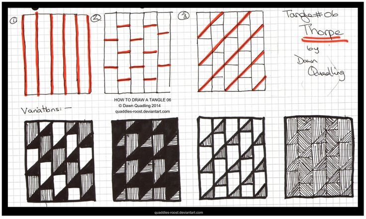 How to Draw Tangle 06 Thorpe_quaddles-roost by Quaddles-Roost.deviantart.com on @DeviantArt