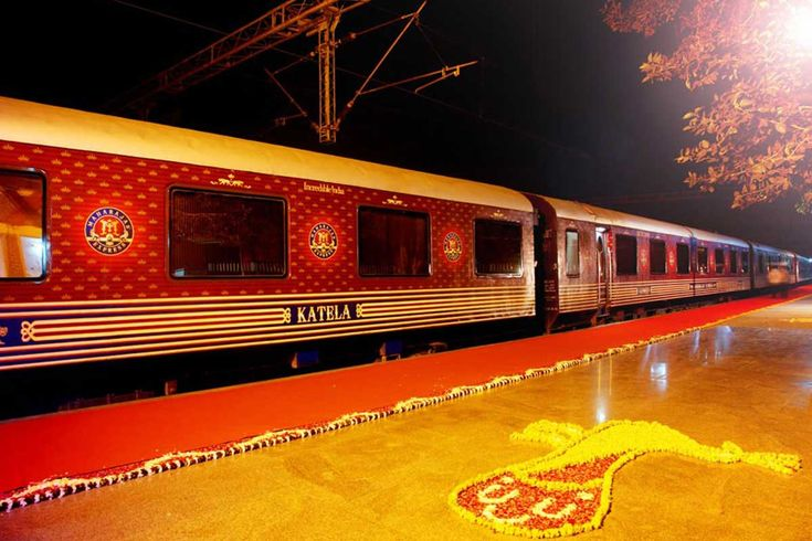 Maharajas Express is so special luxury train offers 5 star services onboard the train. The dining car of Maharajas Express can accomodate 42 guests at a time.