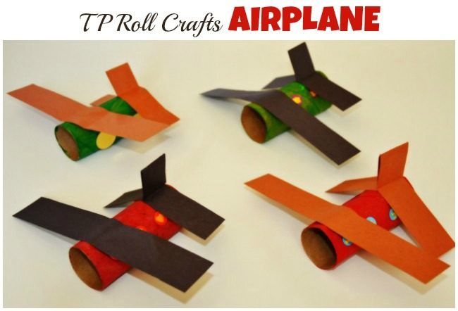 Paper roll craft : Airplane