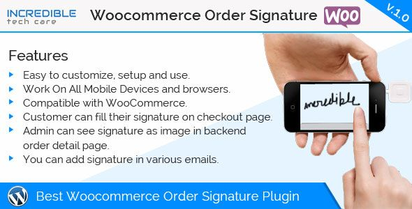 Woocommerce Order Signature