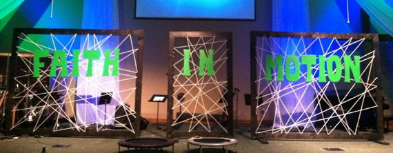 Letters in a Web   Church Stage Design Ideas
