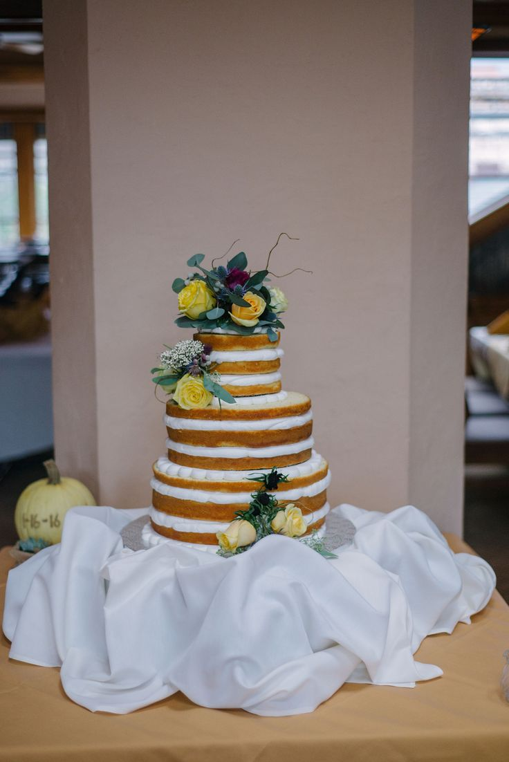 wedding cakes northern new jersey%0A Naked wedding cake  fall wedding cake  NJ wedding at Nauvoo Grill Club   McKay