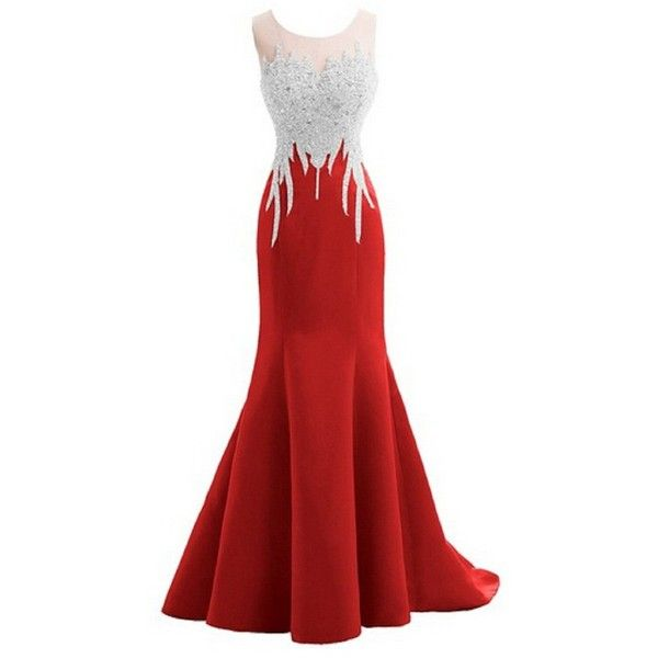 Amazon.com: Felaladress® Crystal Mermaid Sexy Backless Sparkly Long... ($139) ❤ liked on Polyvore featuring dresses, homecoming dresses, red sparkly dress, sexy homecoming dresses, red dress and red prom dresses