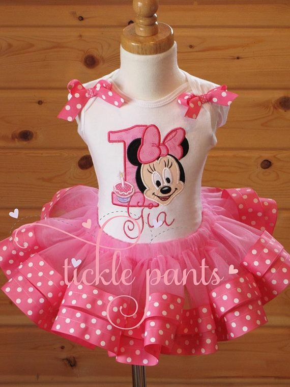 Baby Minnie Birthday Collection  Includes by ticklepants on Etsy