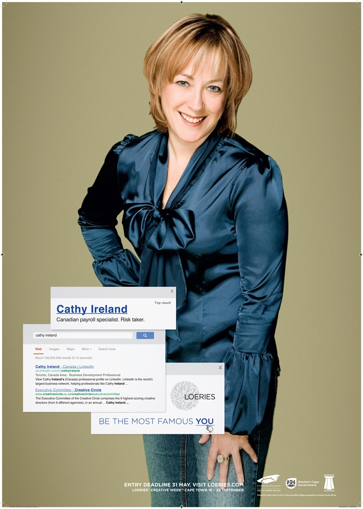 Cathy Ireland. Being the most famous her.