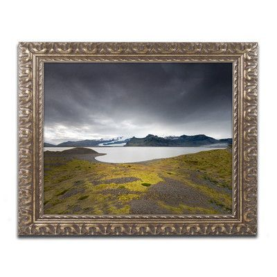 """Trademark Art Threat in the Sky by Philippe Sainte-Laudy Framed Photographic Print Size: 11"""" H x 14"""" W x 0.5"""" D"""