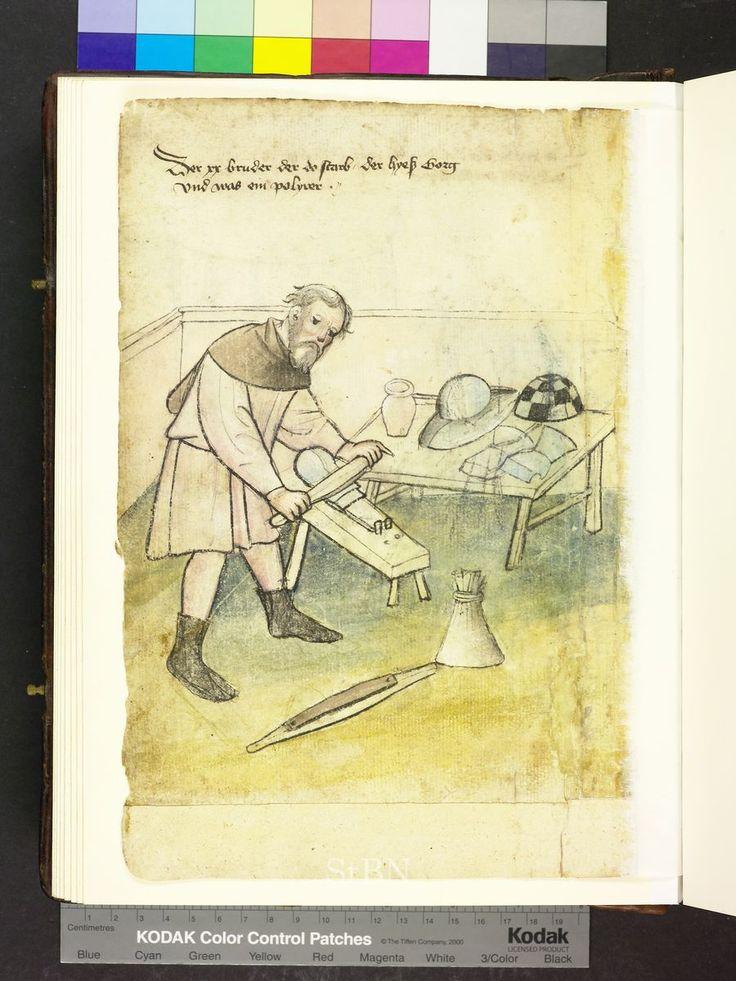 Armor polisher 1425 Die Hausbücher der Nürnberger Zwölfbrüderstiftungen