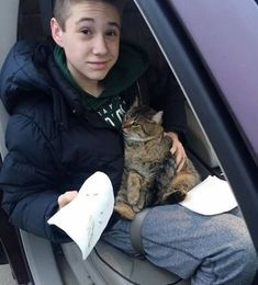 Cat Thrown From A Moving Car Hanging Off An Overpass When 14 Year Old Makes A Grab