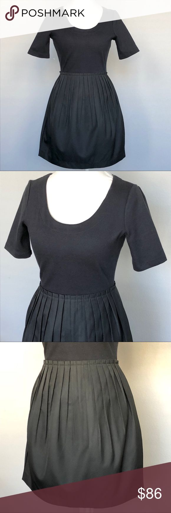 Kate Spade Saturday Tulip Dress Great upper stretch, elbow length sleeves, pleated tulip skirt - textured. Like new! kate spade Dresses
