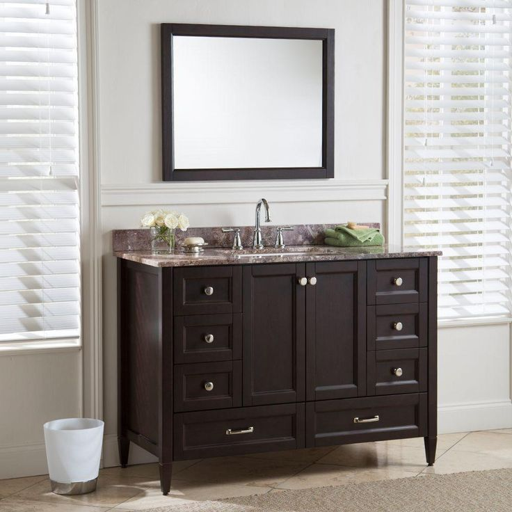 Home Decorators Collection Claxby 48 In W Vanity Cabinet Only In Chocolate Home The O 39 Jays
