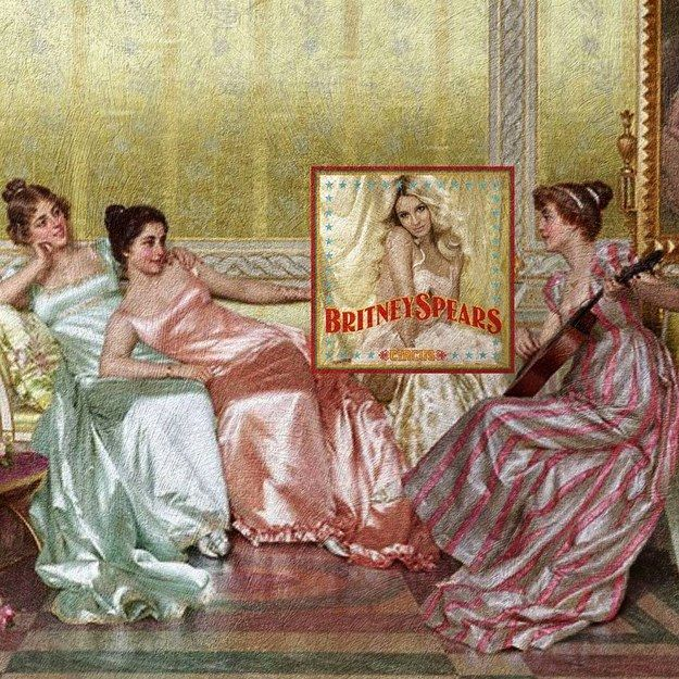 Britney Spears as a lady in Vittorio Reggianini's La Soirée? Gimme, gimme more!   This Instagram Account Makes Iconic Album Covers Into Classical Art