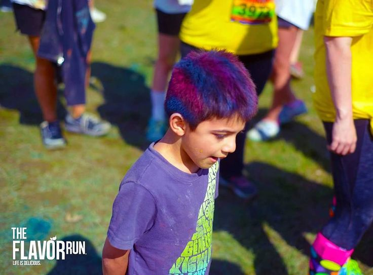 Woah! That's really neat hair!  What is part of your race day outfit? #cool #fun #hairstyle #kidsofinstagram #raceday #5k