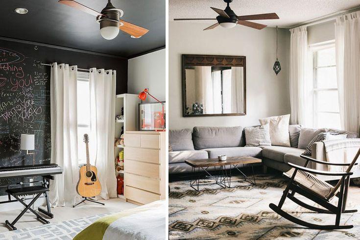 | Ventiladores de techo modernos para mitigar el calor
