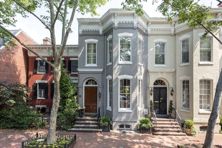 Brownstones in Georgetown DC | Victorian Gothic interior style