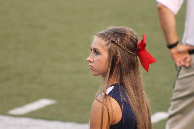 cheer hair for the cheer season! half up half down with braid