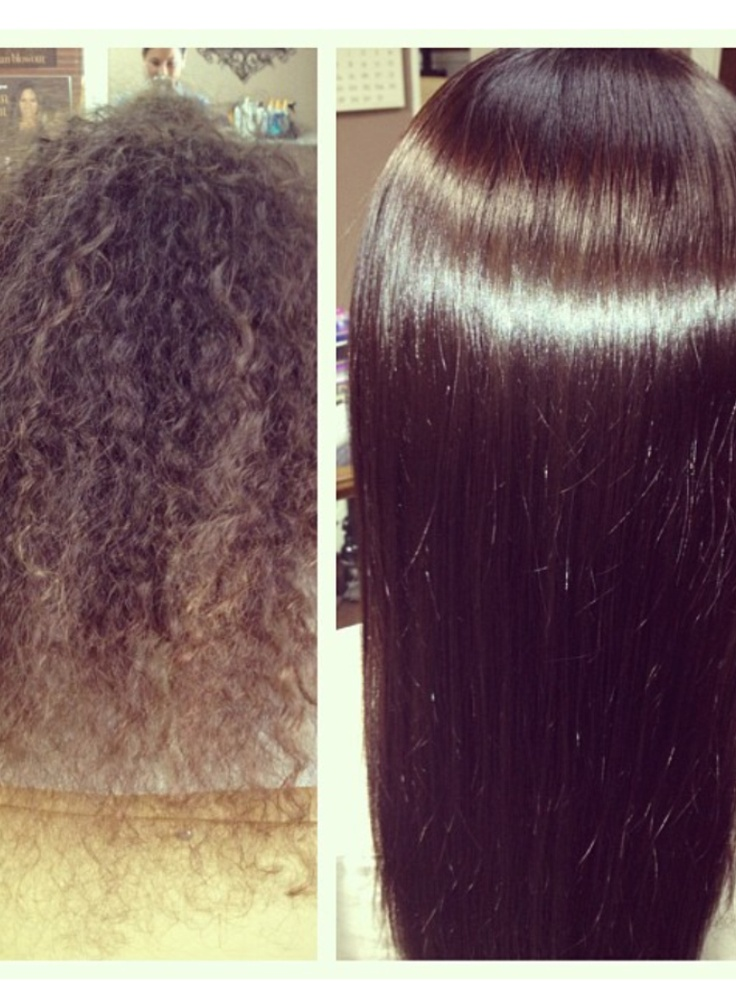 Brazilian Blow Out.... Before & After. Untouched  photo. I'm sure... It's my daughter :-)