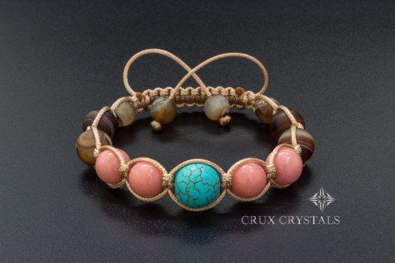 Aruba rosa con cuentas pulsera pulsera del Shamballa de la