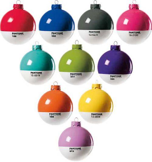 Pantone Christmas Baubles By Studio Badini Createam