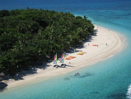 Aerial of Treasure Island, Fiji