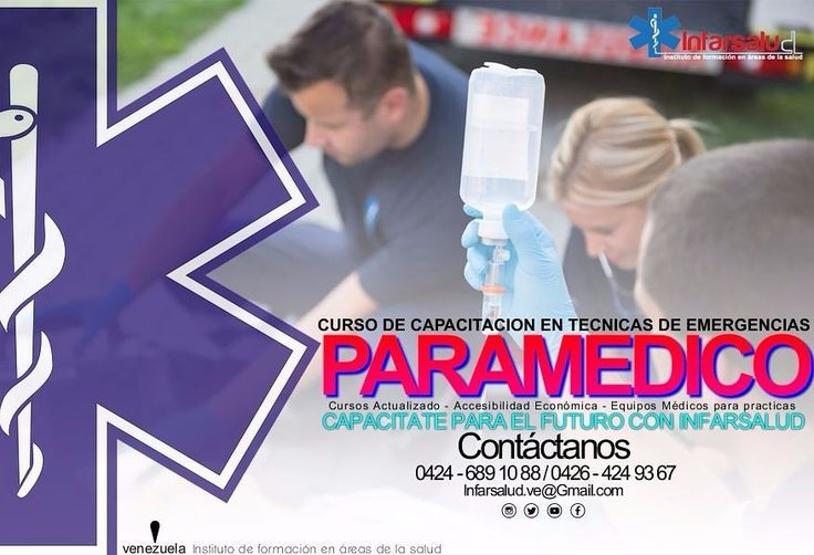 Este sábado inicia Curso de Paramedico en Maracaibo. Horarios 11am a 2pm.  Registrado por el Ministerio de Educación Según Resolución 1971.  Avalado por:  Protección Civil Maracaibo. Aovez.  Cuerpo de Bombero.  Inscribete y inicia clases este mismo sábado.  Corre la información se un profesional.  Contactanos por: Pin: 5C377279 Facebook: INFARSALUD Instagran: @Infarsalud whatsapp: 0426 424 93 67 Tlf: 0424 689 10 88 / 0426 424 93 67 #ebsTrainner
