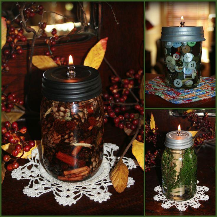 DIY Mason Jar Mug Lanterns a