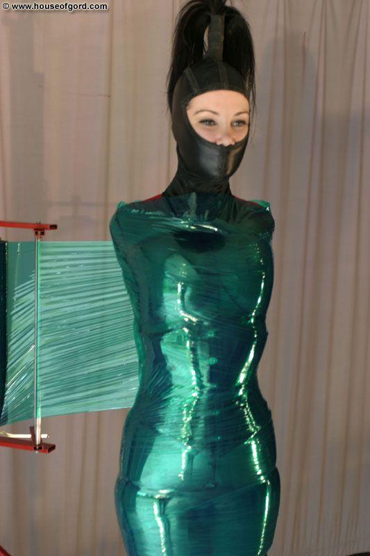Good, agree bondage latex wrap photo