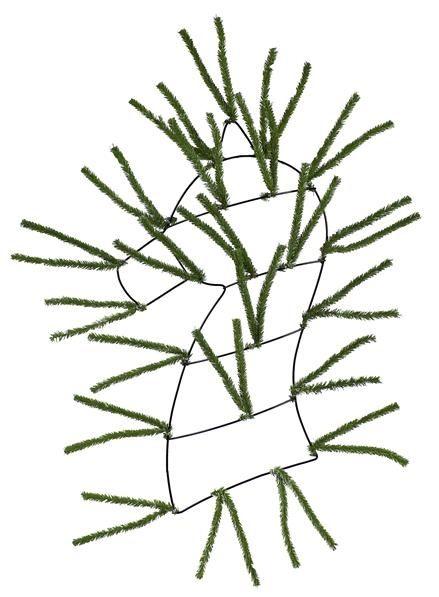 Two Tone Green Horse Head Wreath Form