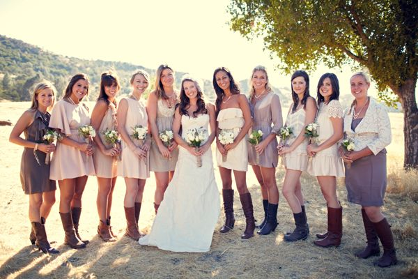 too many bridesmaids but still cute