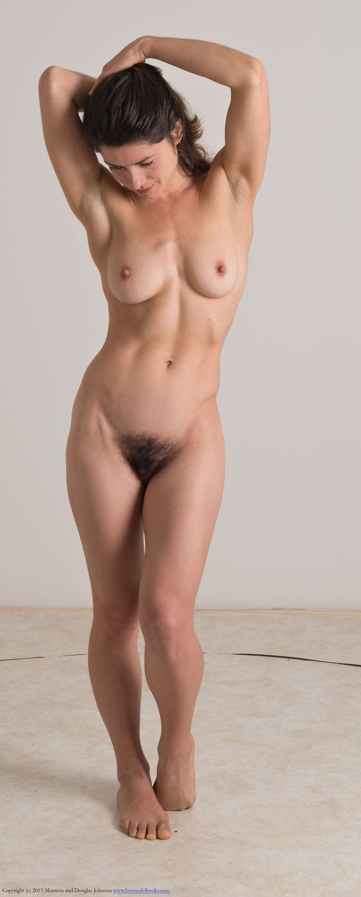 Nude full figure female model