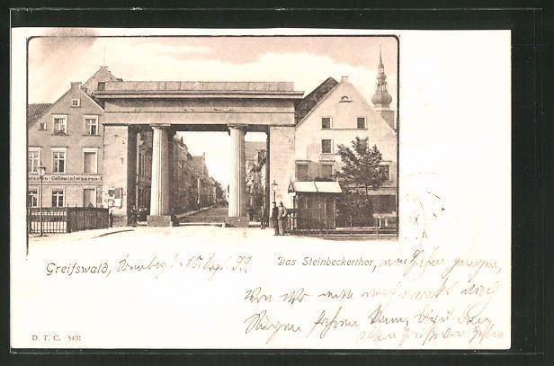 AK Greifswald, Das Steinbeckertor 1899   Sammeln & Seltenes, Ansichtskarten, Deutschland   eBay!