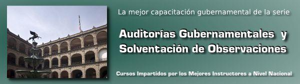 La Mejor Capacitación Gubernamental de la serie Auditorías Gubernamentales y Solventación de Observaciones.