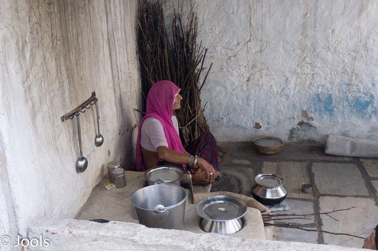 A household kitchen, Sardargarh village.
