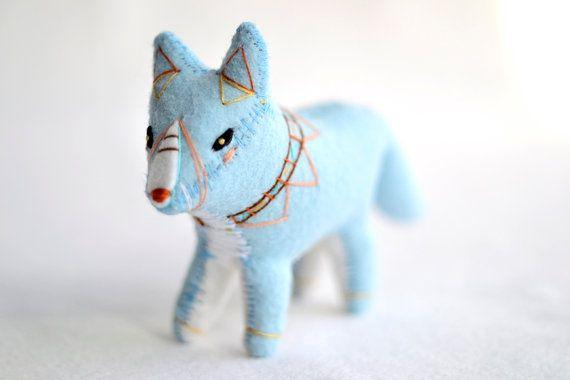 blue spirit fox: Blue Spirit, Soft Sculpture, Spirit Foxes, Fantastic Foxes, Foxes Spirit, Foxes Totems, Blue Foxes, Blue Things, Foxes Soft